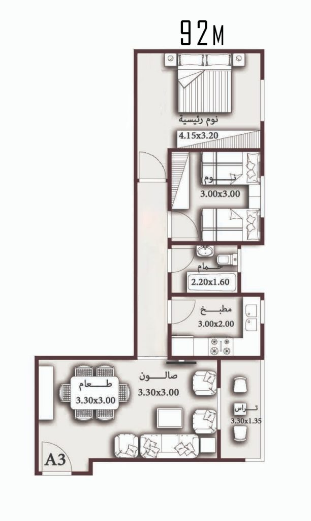 Apartment 92 meters for sale in installments in New Heliopolis – Project 78